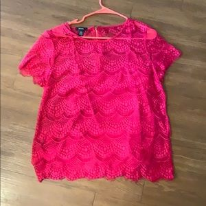 Alfani Pink Lace Top
